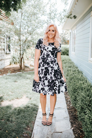 Botanical Knee Length Dress | 2 Colors!