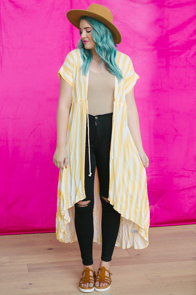 Candy Coated Striped Kimono | 3 Colors!