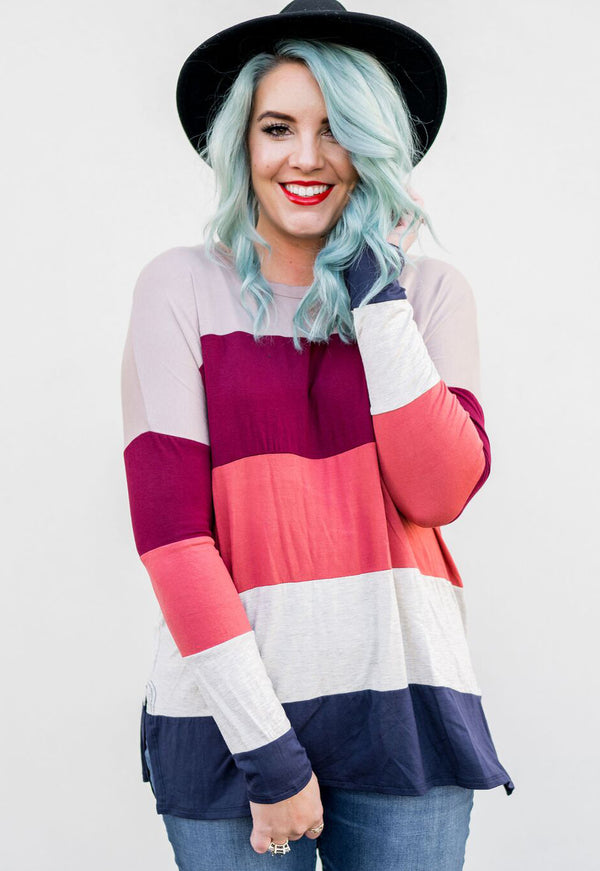 Candy Color Block Tunic | 2 Colors!