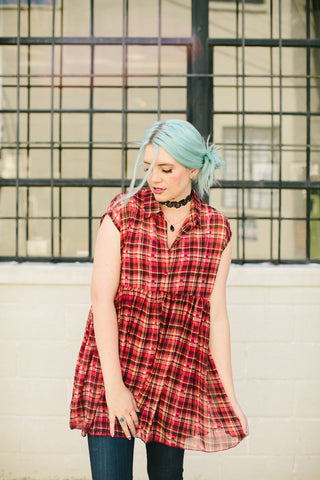 I Just Plaid To Baby Doll Tunic