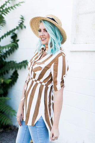 Stripes If You Please Tunic