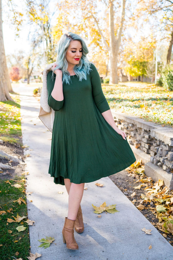 Olive You Too Hi-Low Dress