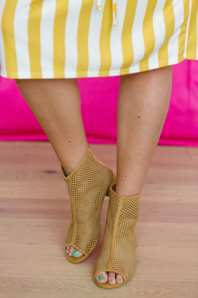 Breathe Easy Open Toe Bootie | 2 Colors!
