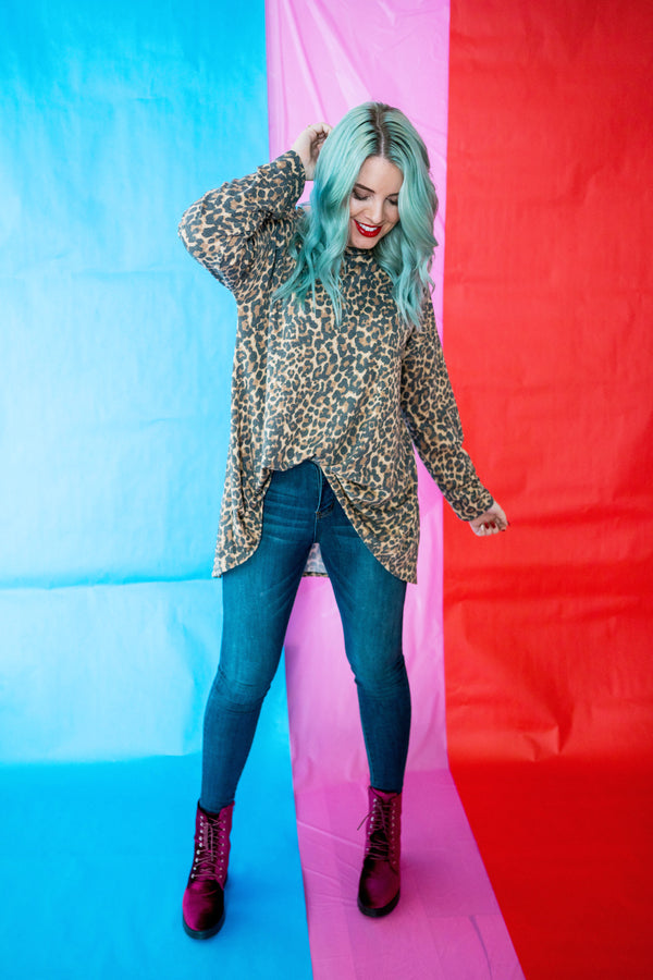 Wild Girl Leopard Tunic | Up to 3X!