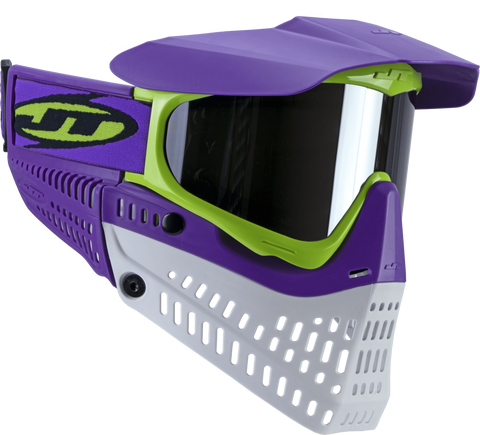 JT Proflex LE Paintball Mask-Purple-Lime-White - New Breed Paintball & Airsoft