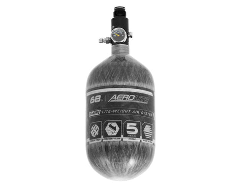AeroLite Carbon Fiber Tank - 68ci / 4500psi  - Clear - New Breed Paintball & Airsoft