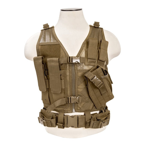 NcStar VISM Tactical Cross Draw Vest - Tan