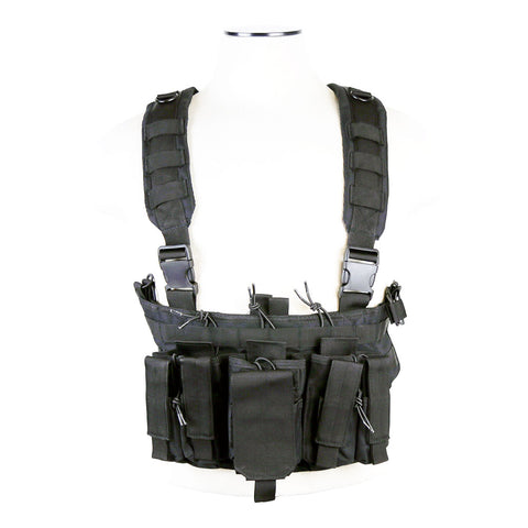 NcStar VISM AR & Pistol Magazine Chest Rig - Black