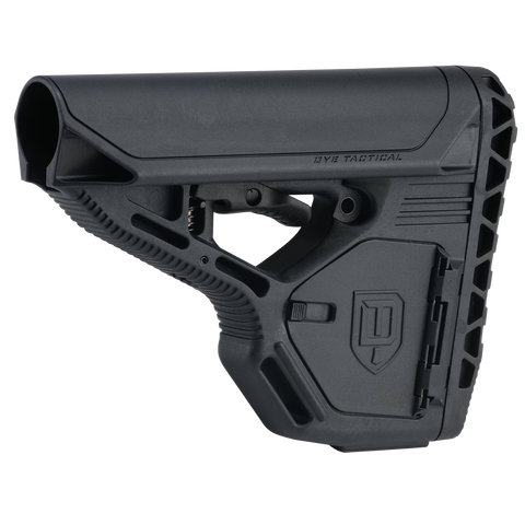 DAM Stock - Standard with Storage - Black - New Breed Paintball & Airsoft