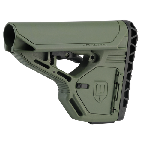 DAM Stock - Standard with Storage - Olive Drab - New Breed Paintball & Airsoft