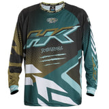 Edge - Aqua/Gold - Retro Jersey - New Breed Paintball & Airsoft