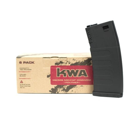 KWA K120 Mid-Cap Magazine (6-Pack)-Black - New Breed Paintball & Airsoft