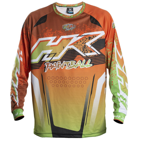 Liquid - Orange/Lime - Retro Jersey - New Breed Paintball & Airsoft