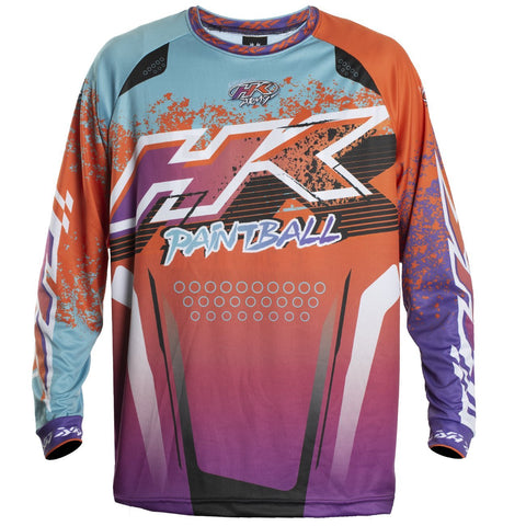 Liquid - Orange/Teal - Retro Jersey - New Breed Paintball & Airsoft