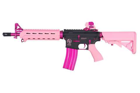 CM16 MOD0 UPI Edition Combo-Pink (with 9.6v Nunchuck & Charger) - New Breed Paintball & Airsoft
