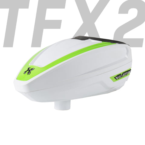 TFX 2 Loader - White/Neon Green - New Breed Paintball & Airsoft
