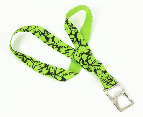 Planet Eclipse Fighter Bottle Opener Lanyard - Green/Black