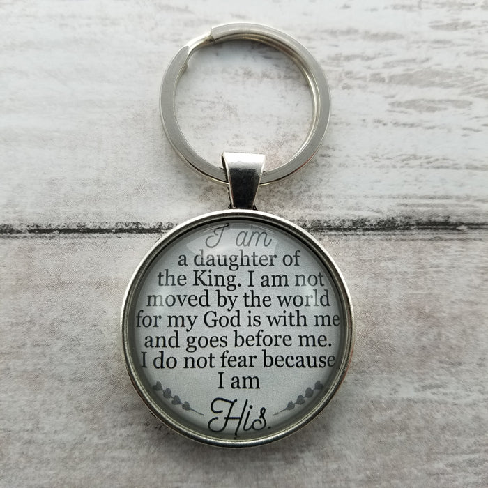 I Am a Daughter of the King - Pendant Keychain