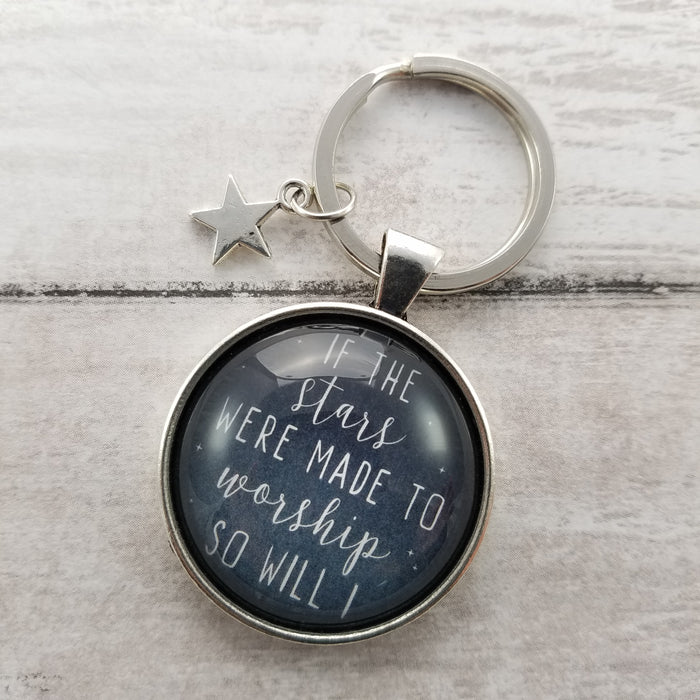 If the Stars Were Made to Worship - Pendant Keychain