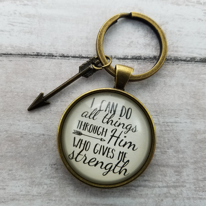 I Can Do All Things Through Him - Pendant Keychain