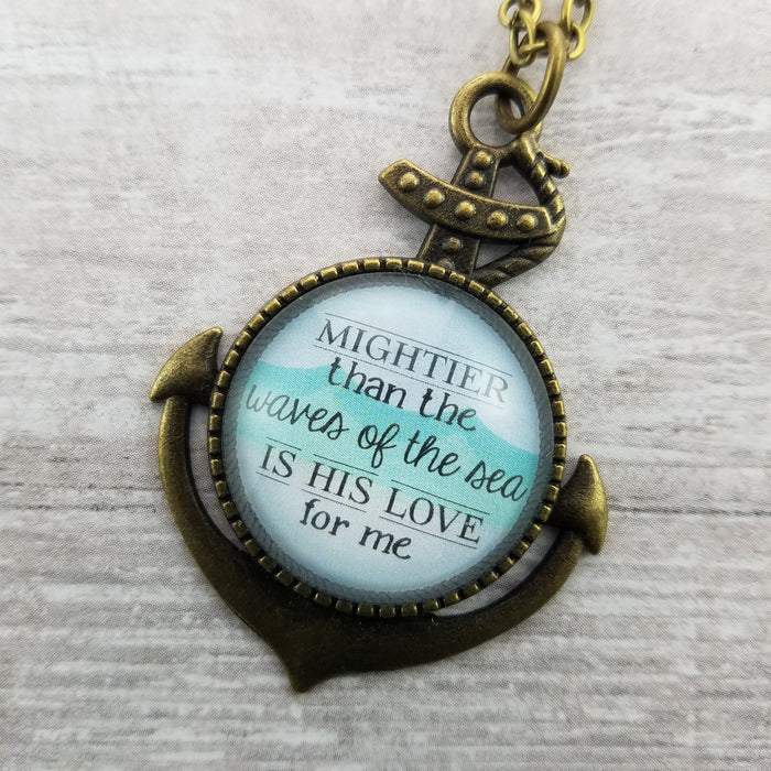 Mightier Than the Waves of the Sea - Pendant Necklace