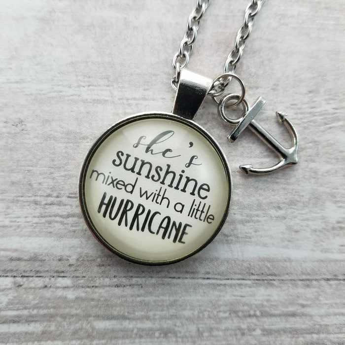 She's Sunshine Mixed With a Little Hurricane - Pendant Necklace