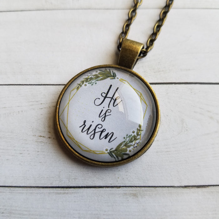 He Is Risen - Pendant Necklace