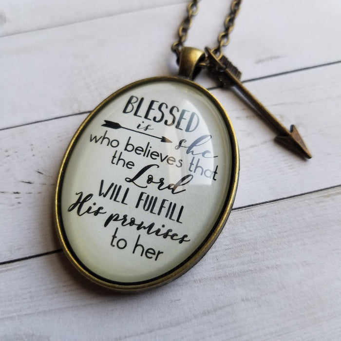 Blessed Is She - Pendant Necklace