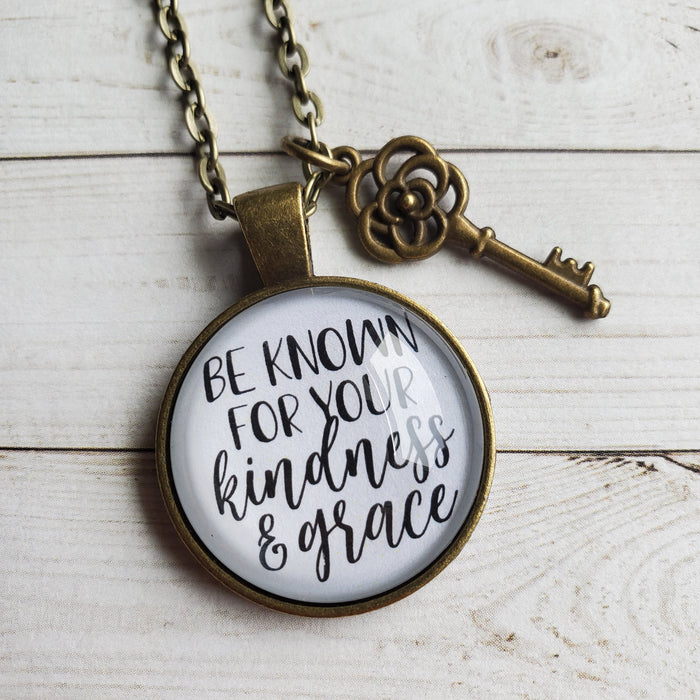 Be Known for Your Kindness & Grace - Pendant Necklace