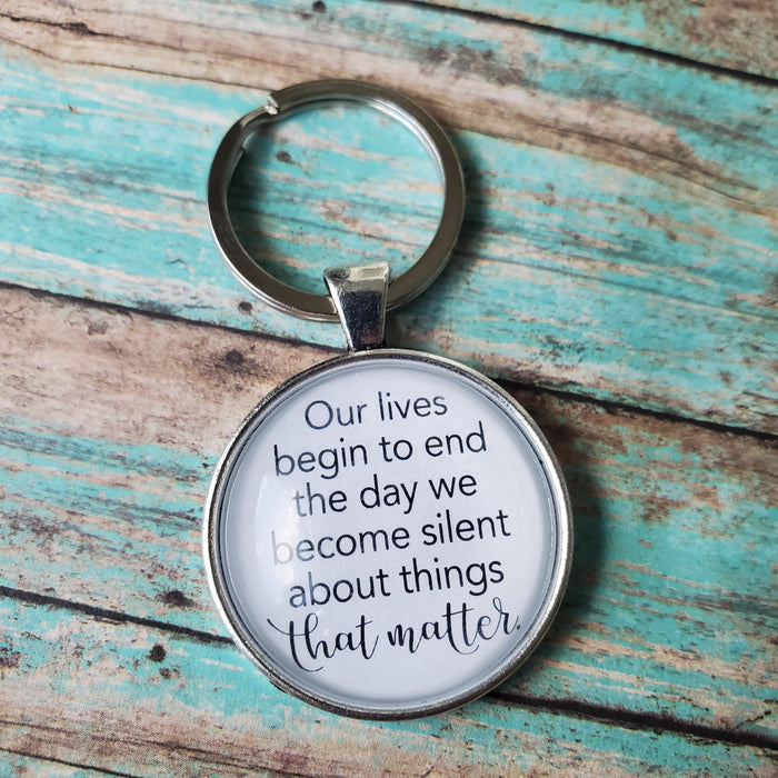 Our Lives Begin To End - Pendant Keychain