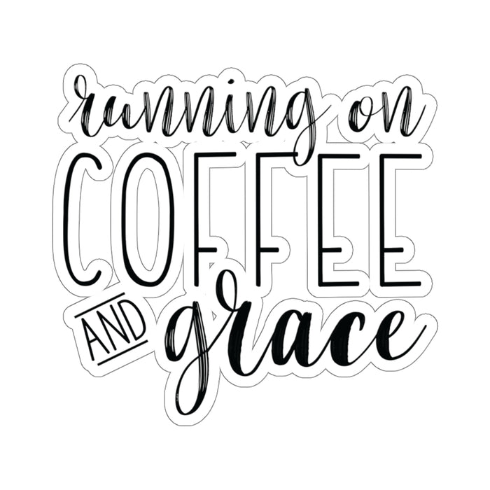 Running on Coffee and Grace - Sticker
