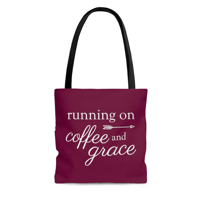 Running on Coffee and Grace - Tote Bag