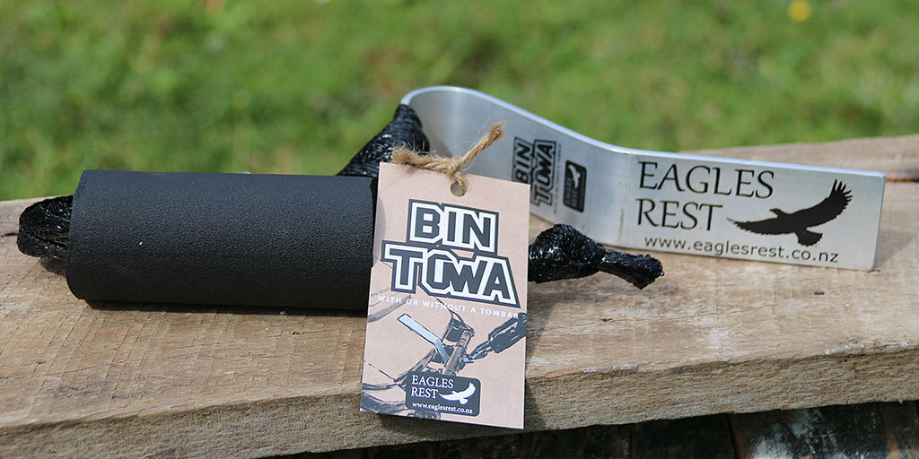 Tow your recycled bin to the gate behind your car