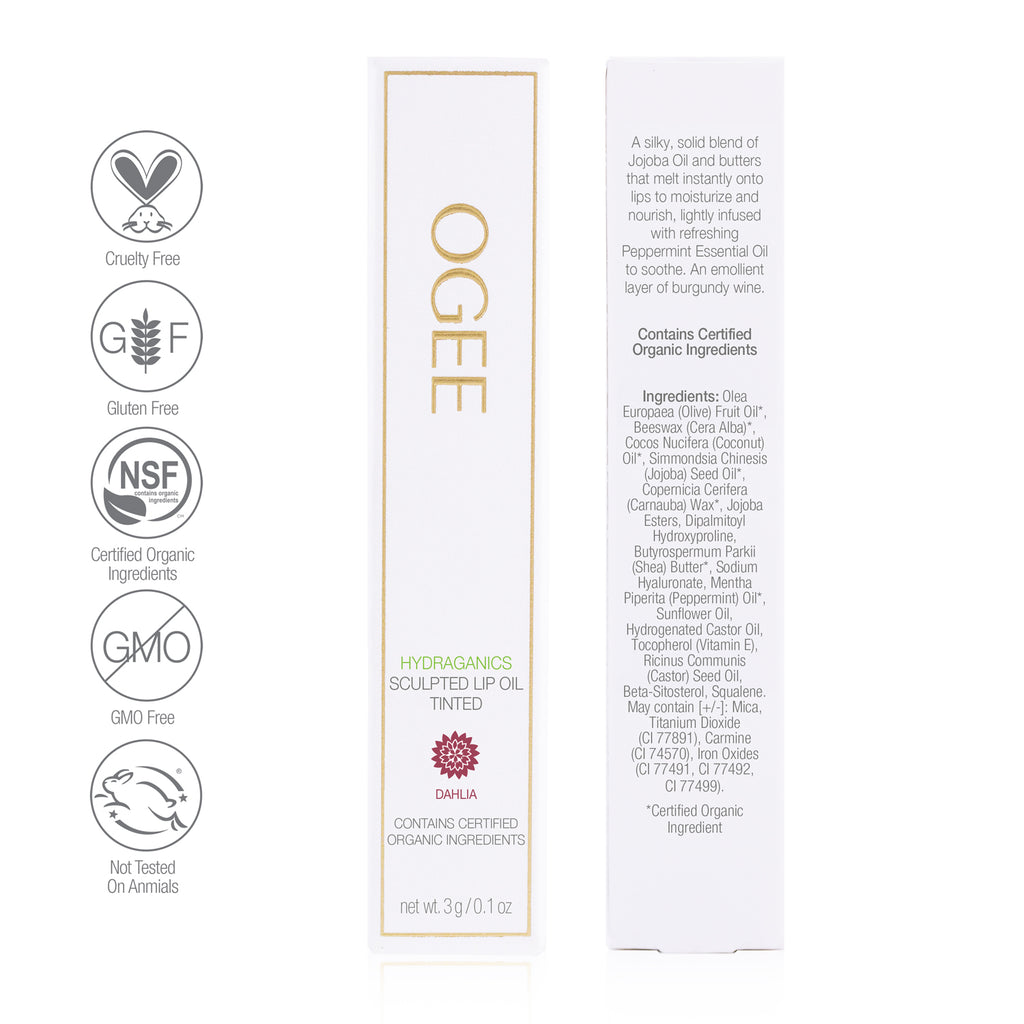 Ogee - Tinted Sculpted Lip Oil - Dahlia
