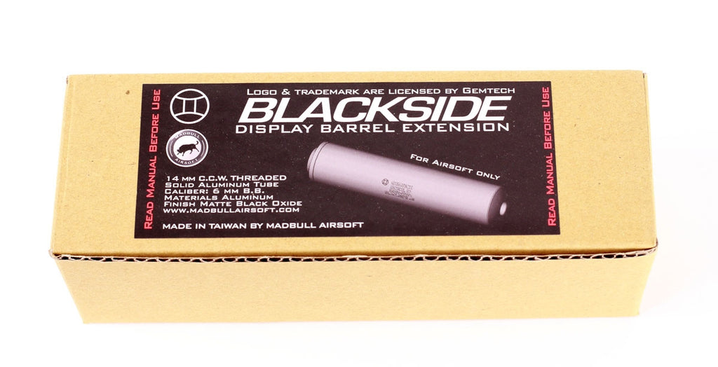 Madbull Gemtech Blackside Barrel Extension (Black)