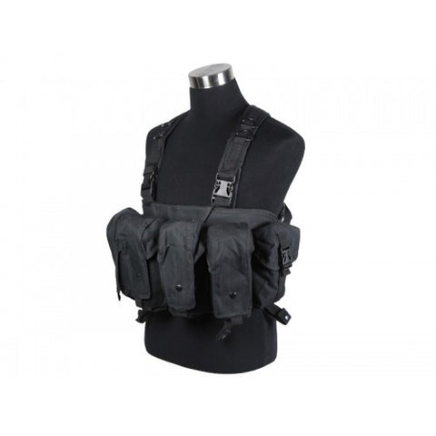 DEFCON AK Tactical Chest Rig Vest - Black