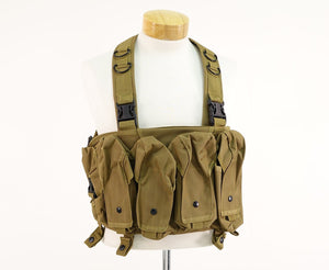 DEFCON AK Tactical Chest Rig Vest - Tan