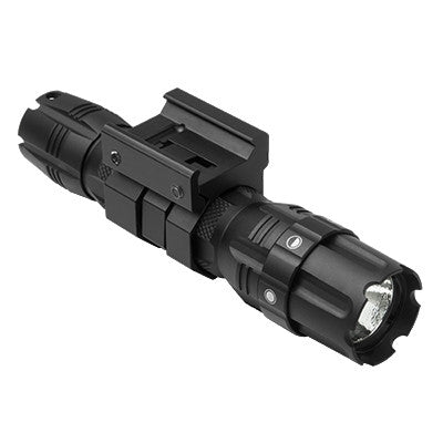 NcSTAR 250 Lumen Flashlight with Rail Mount