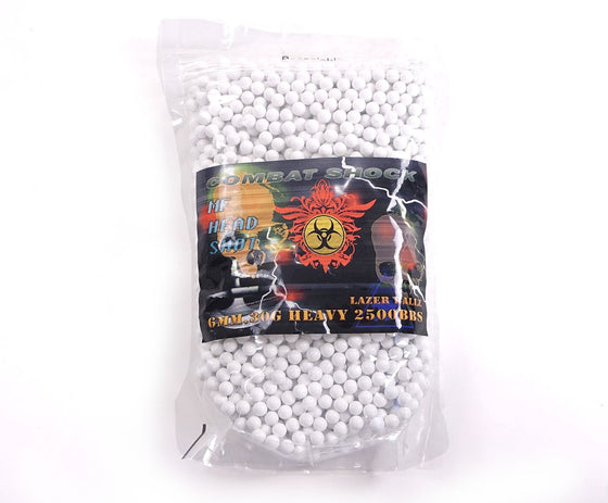 0.30g 2500 White Lazer Ballz BBs - Airsoft Atlanta