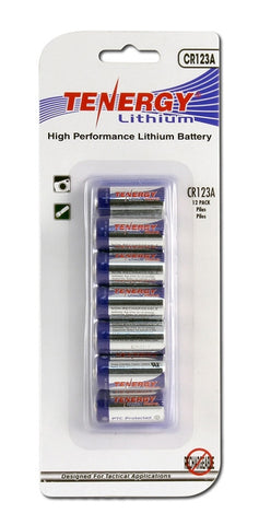 Tenergy CR123A Lithium Batteries (12-Pack)