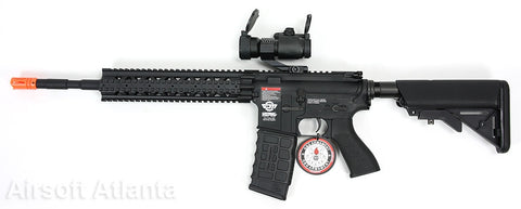 G&G Combat Machine CM16 R8-L AEG - Black  (Scope and Gun)