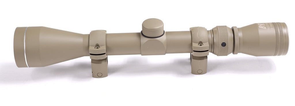 NcSTAR 3-9x40 Rifle Scope (includes Rings, Tan)