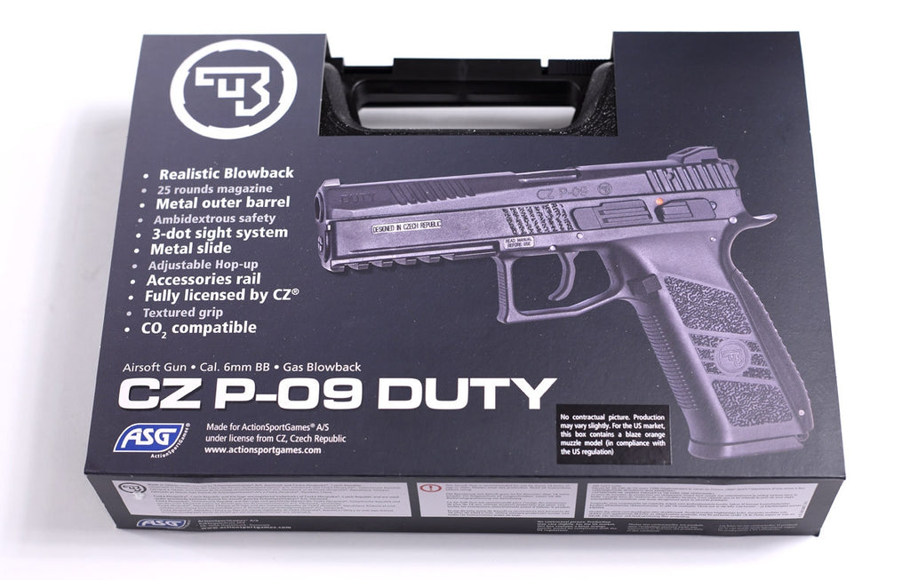 ASG CZ P-09 Co2 Gas Gun Black