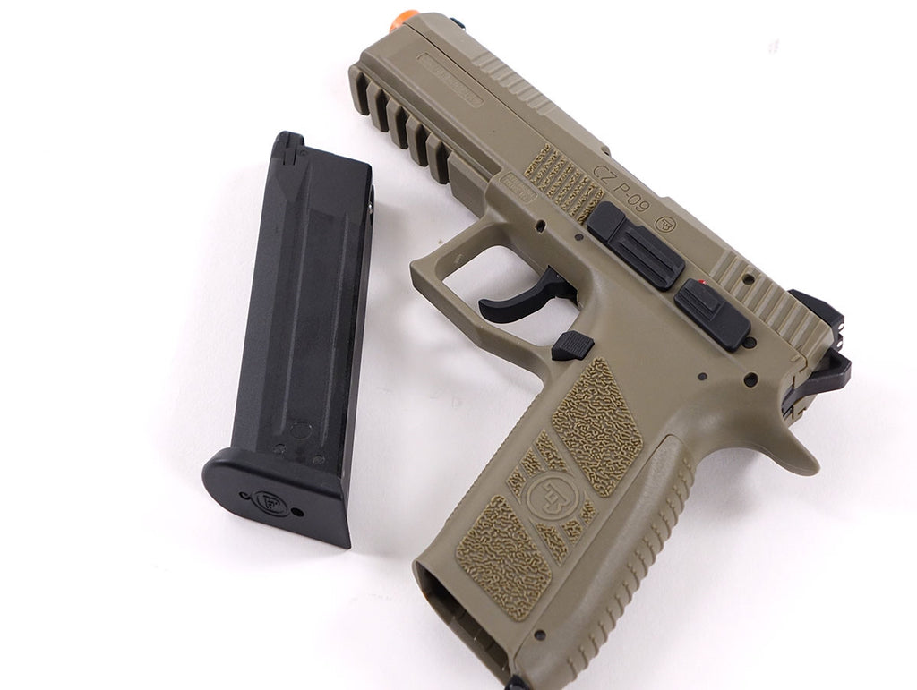 ASG CZ P-09 Duty Green Gas Gun (Tan) - Airsoft Atlanta