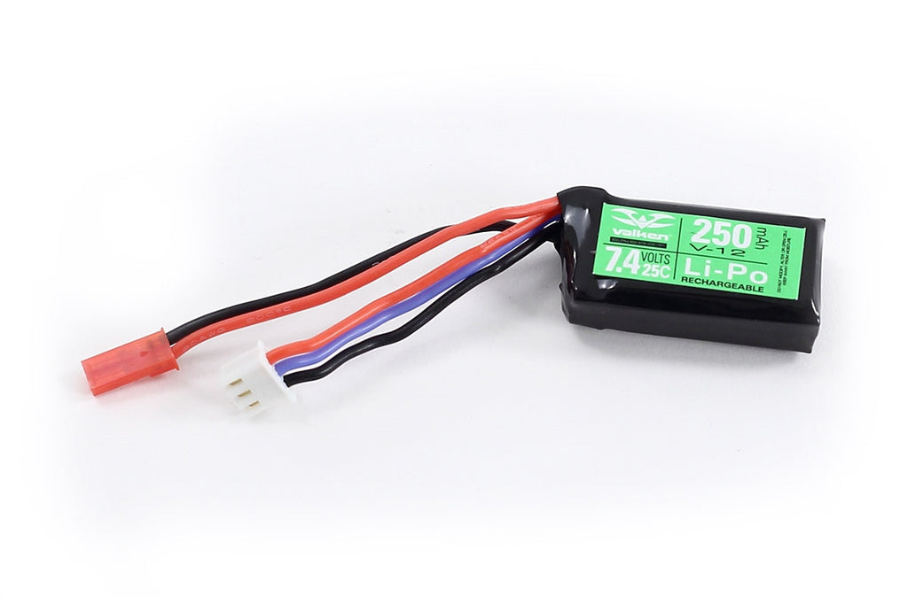7.4v 250mAh Valken Battery (LiPo) - Airsoft Atlanta