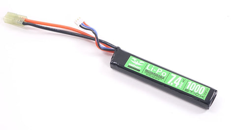 Valken 7.4v 1000mAh Stick Lipo Battery