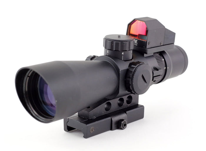 NcSTAR USS Mark III Tactical Mil-Dot 3-9X42/Scope Adaptor Mount/Red Dot Combo