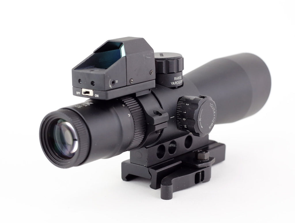 NcSTAR Mark III Tactical Mil-Dot 3-9X42/Scope Adaptor Mount/Red Dot Combo