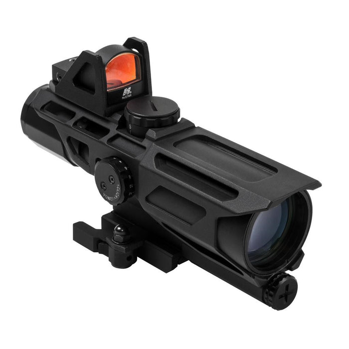 NcSTAR GEN3 USS 3-9X40 Scope w/Red Dot/MIL-DOT