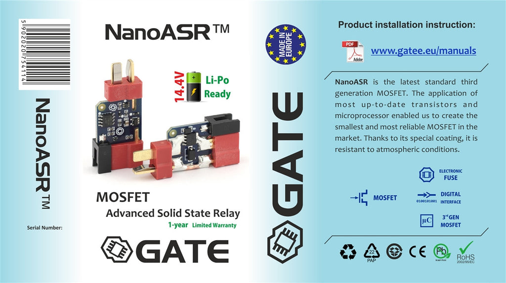 Gate NanoASR Mosfet Unit